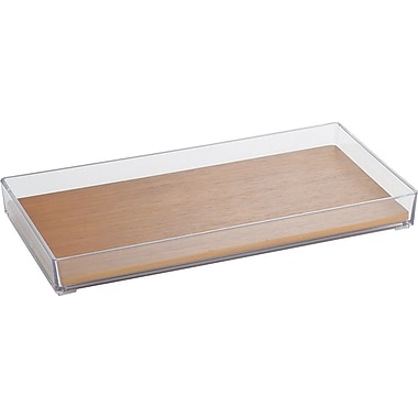 InterDesign® Formbu Vanity Tray, Clear/Natural Bamboo