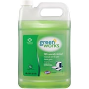 Clorox® Green Works® Natural Manual Pot & Pan Dish Liquid, Original, 1 Gallon