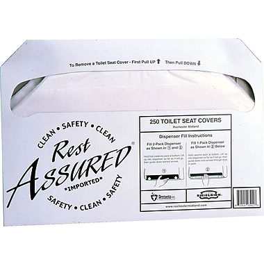 Rest Assured® Toilet Seat Cover, 2,500/Case
