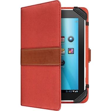 Aluratek - Étui et support universel pour tablettes de 7 po, rouge