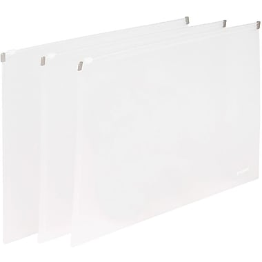 Poppin Clear Set of 3 Zip Folios