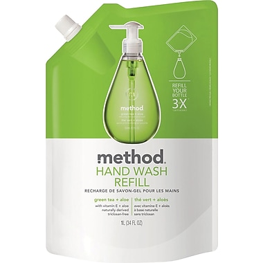 Method Gel Handwash Refill, Green Tea and Aloe, 34 oz.