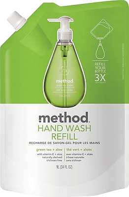 Method Gel Hand Soap Refill, Green Tea + Aloe, 34 Ounce (00651)