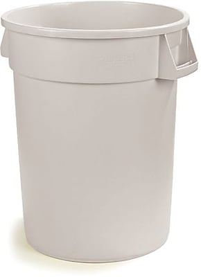 Carlisle Bronco 55 gal. Polyethylene Trash Can without Lid, White