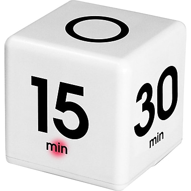Datexx - Minuteries The Cube, intervalles de 5, 15, 30, 60 minutes, blanc