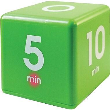 Datexx – Minuterie The Cube, préréglée à intervalles de 1, 5, 10, 15 minutes, vert
