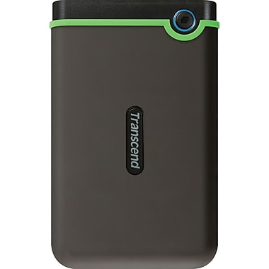Transcend® StoreJet® 25M3 500GB USB 2.0/3.0 External Hard Drive, Black