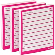 Poppin Task Pads, Pink, Set of 3 (100050)