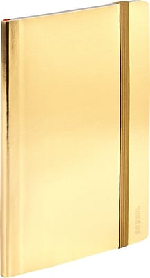 Poppin Small Soft Cover Notebook, Gold (100023)