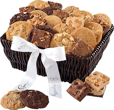 Mrs. Fields® 24 Cookies & 12 Brownies Sympathy Basket