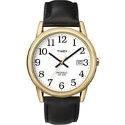 Timex Men's Classic Watch with Black Leather Strap