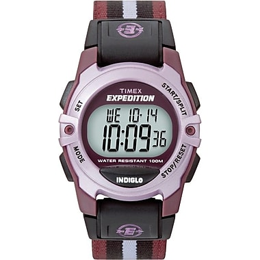 Timex Midsize Expedition Watch, Pink Case with Nylon Strap