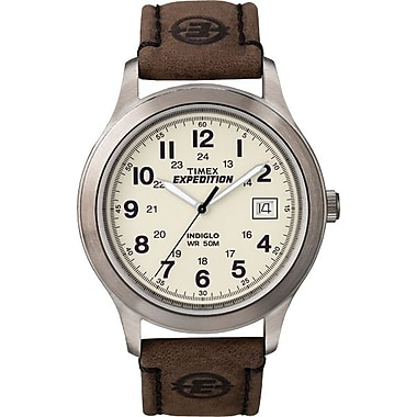 Timex Men's Expedition Watch with Brown Leather Strap