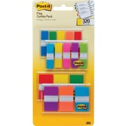 Post-it® Combo Pack, 320 Flags in Four On-The-Go Dispensers