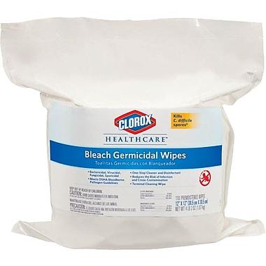 Clorox Germicidal Tissue Wipes Refill, White, 12