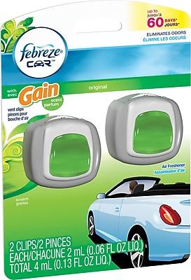 Febreze® Car Vent Clips Air Fresheners, Gain®, 2/Pack