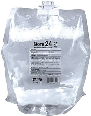 Qore-24 Antimicrobial Hand Sanitizer Refill, 800ML, 4 Refills/Case