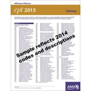 AMA 2015 Express Reference Coding Cards for CPT, Radiology