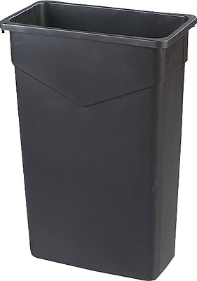 Carlisle TrimLine 23 gal. Polyethylene Trash Can without Lid, Black
