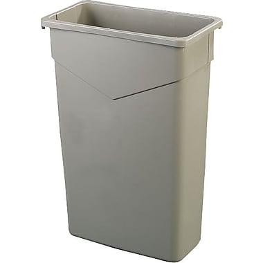 Carlisle TrimLine 23 gal. Polyethylene Trash Can without Lid, Beige