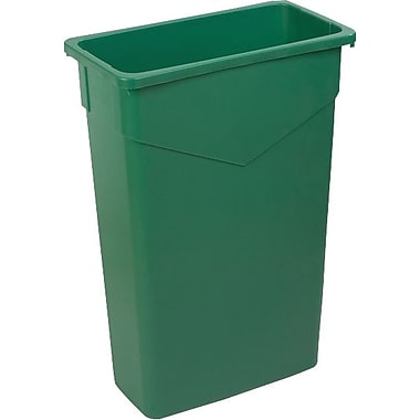 Carlisle TrimLine 23 gal. Polyethylene Trash Can without Lid, Green