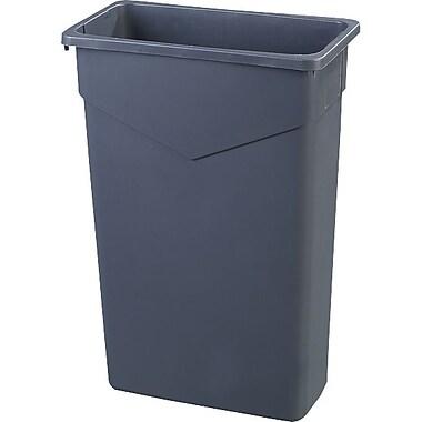 Carlisle TrimLine 23 gal. Polyethylene Trash Can without Lid, Gray