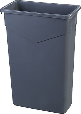 Carlisle TrimLine 23 gal. Polyethylene Trash Can without Lid, Gray