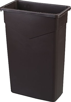 Carlisle TrimLine 23 gal. Polyethylene Trash Can without Lid, Brown