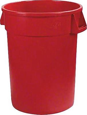 Carlisle Bronco 32 gal. Polyethylene Trash Can without Lid, Red