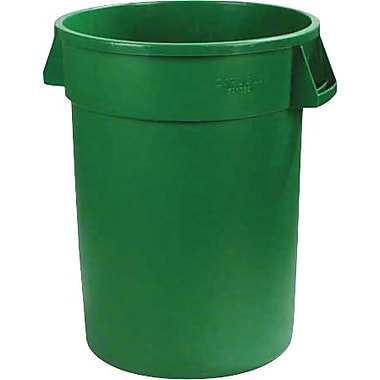 Carlisle Bronco 32 gal. Polyethylene Trash Can without Lid, Green