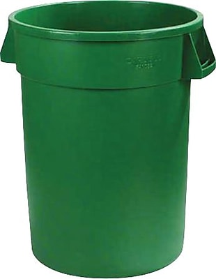 Carlisle Bronco 32 gal. Polyethylene Trash Can without Lid, Green