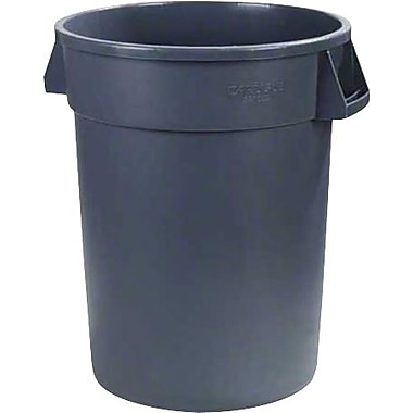 Carlisle Bronco 32 gal. Polyethylene Trash Can without Lid, Gray