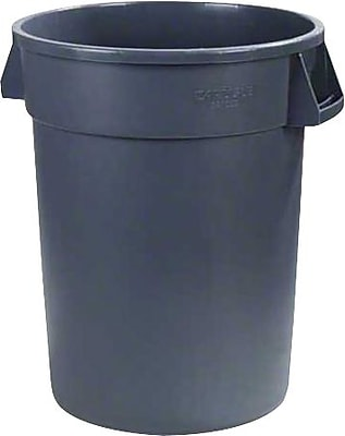 Carlisle Bronco 32 gal. Polyethylene Trash Can without Lid, Gray