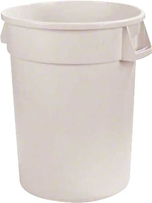 Carlisle Bronco 44 gal. Polyethylene Trash Can without Lid, White