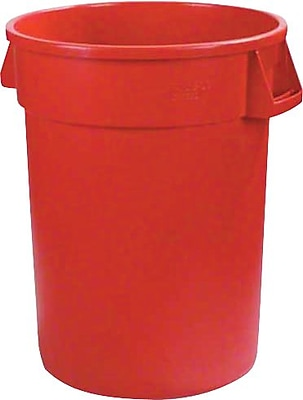 Carlisle Bronco 44 gal. Polyethylene Trash Can without Lid, Red