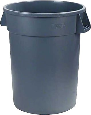 Carlisle Bronco 44 gal. Polyethylene Trash Can without Lid, Gray