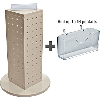 Azar Displays Pegboard Counter Gift Card Holder, 13