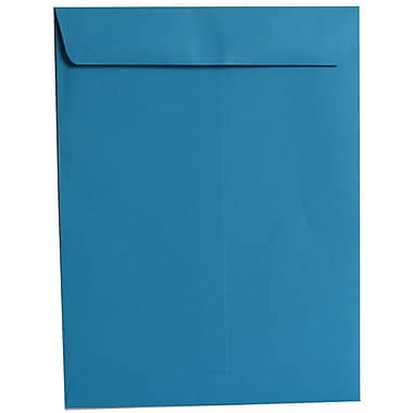 JAM Paper® 10 x 13 Open End Catalog Envelopes, Brite Hue Blue Recycled, 100/Pack (87725)