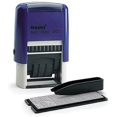 Trodat® Do-It-Yourself Self-Inking Stamp Kit, 2-Line + Dater