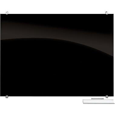 Balt Visionary 3' x 2' Black Magnetic Glass Frameless Dry Erase Board (84061)