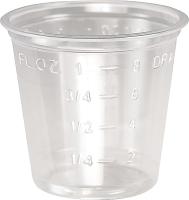 SOLO® T101 Graduated Medicine Cup, 1 oz., Clear, 5000/Each