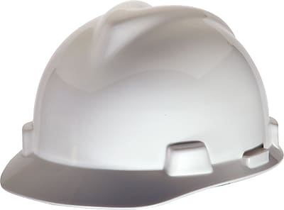 MINE SAFETY APPLIANCES CO. (MSA) Polyethylene V-Gard Cap Standard, White