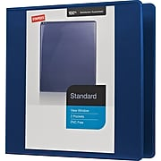 "2"" Staples® Standard View Binder with Slant-D™ Rings"