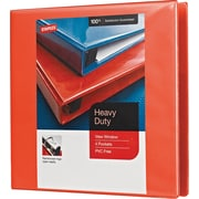 "1-1/2"" Staples® Heavy-Duty View Binder with D-Rings, Orange"
