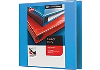 1-1/2' Staples® Heavy-Duty View Binder with D-Rings, Light Blue
