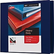 "Z 4"" Staples® Heavy-Duty View Binder with Slant-D™ Rings"
