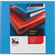 "1/2"" Staples® Heavy-Duty View Binder with D-Rings, Light Blue"