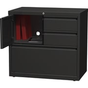 Staples 1 Drawer Lateral File, Black,Letter/Legal, 30''W