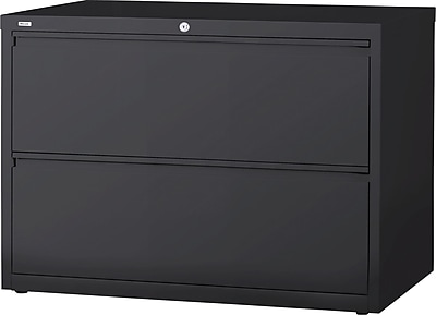 Staples 2 Drawer Lateral File, Charcoal,Letter/Legal, 36''W