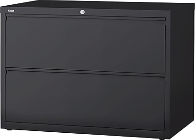 Staples 2 Drawer Lateral File, Charcoal,Letter/Legal, 42''W